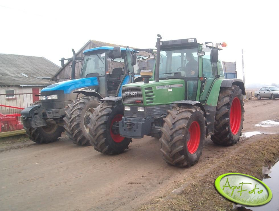 Fendt Favorit 511 C + New Holland TM 155