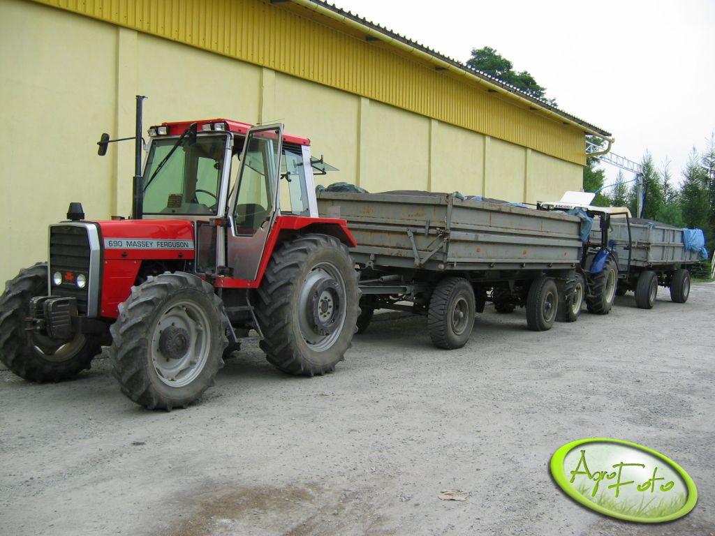 MF 690 + HL i Farmtrac 80 4 WD + HL