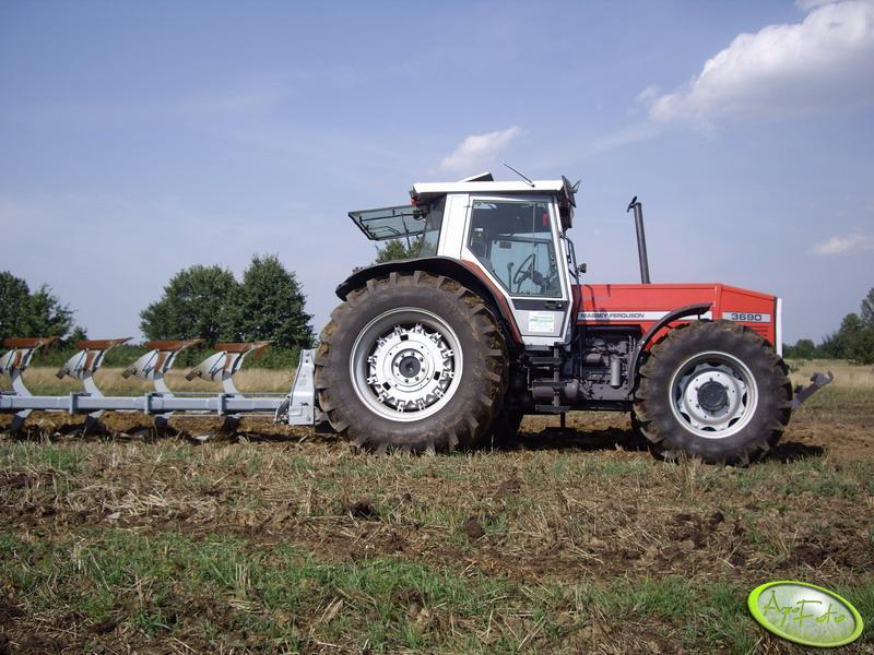 Massey Ferguson 3690 + Kverneland
