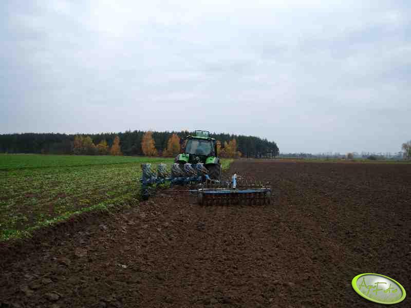 Deutz-Fahr Agrotron 140DT + Rabe 5x50 i Cambell 2,5m