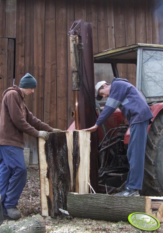 Szczypaczka do drewna w akcji