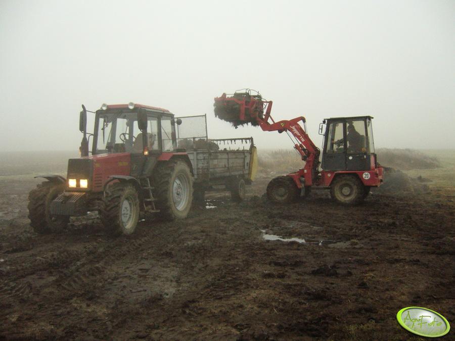 Belarus 820 + Warfama 3,3t i ładowarka Jagger 710