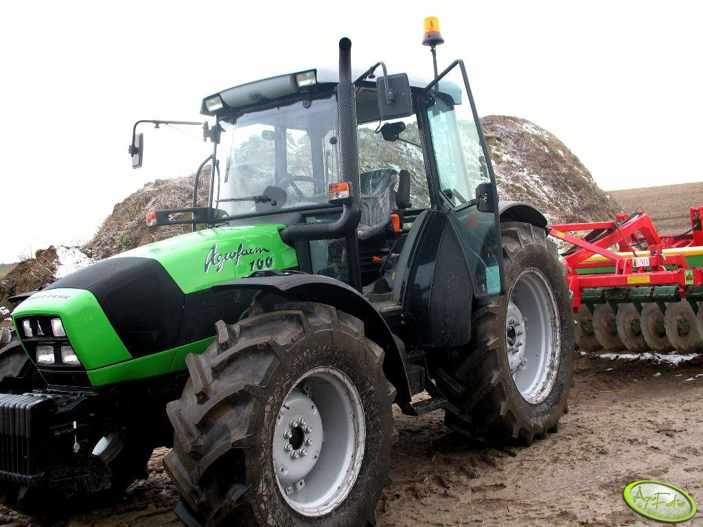 Deutz Fahr Agrofarm 100 + talerzówka unia 4 m