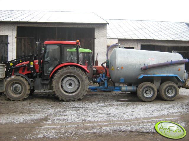Farmer 8258 i beczkowóz
