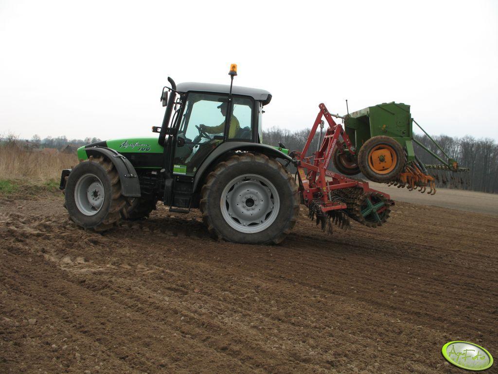 Deutz Fahr Agrofarm 100 + agregat uprawowo- siewny bierny
