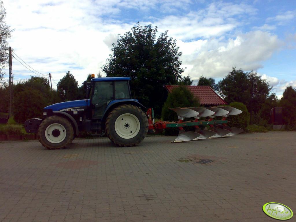 New Holland TM 130 + Kverneland ED 100