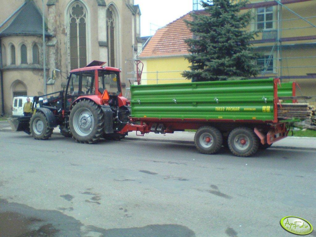 Pronar 82 + przyczepa Pronar T663/2