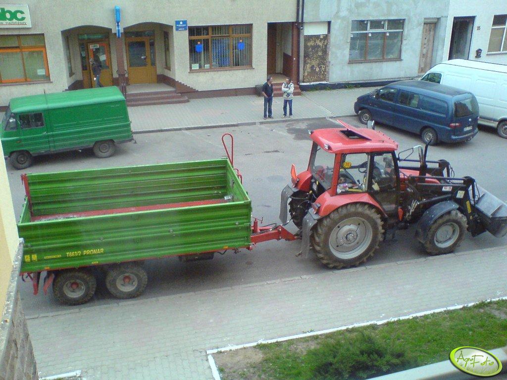 Pronar 82 + TUR + przyczepa Pronar T663/2