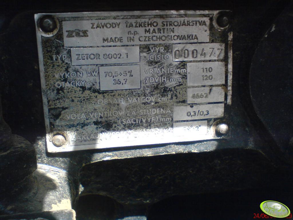 Ursus 1014 tabliczka znamionowa
