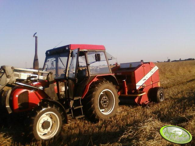 Zetor 6340 i Prasa Metal-Fach