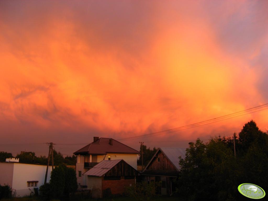 Niebo po wczorajszej ulewie