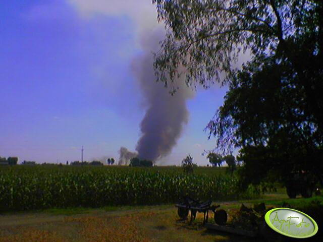 kuku i dym pożaru