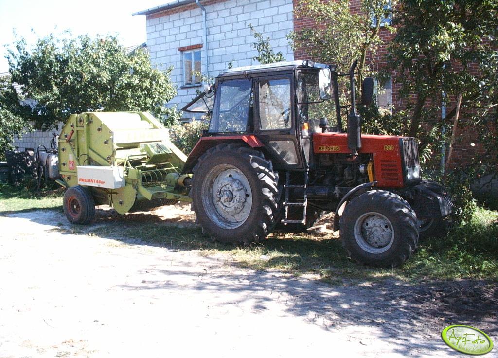 Belarus 820.1 + Claas Rollant 44sp