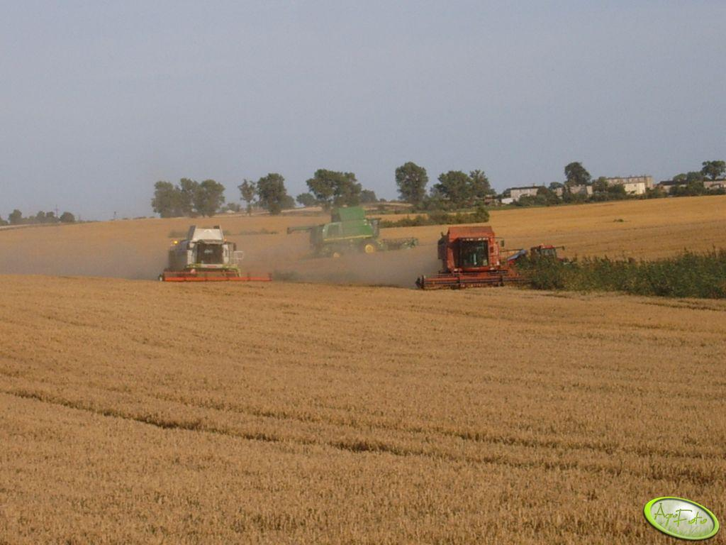Claas Lexion 580, JD 9880 STS i Case 2388