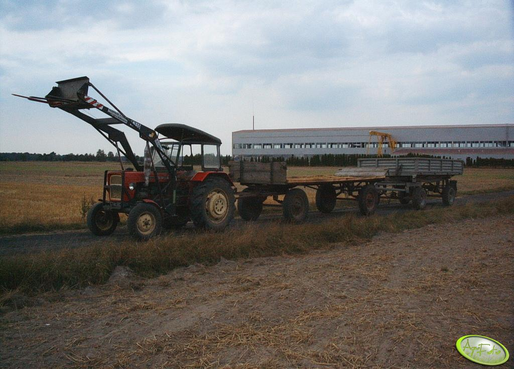 Ursus C-330 + wóz + przyczepa
