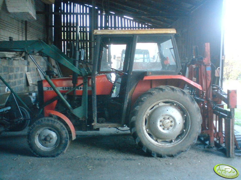 Ursus 3512 z turem i wycinakiem do kukurydzy
