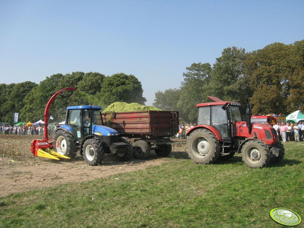 New Holland TD5040 & Pottinger MEX II oraz Farmer 8244 C