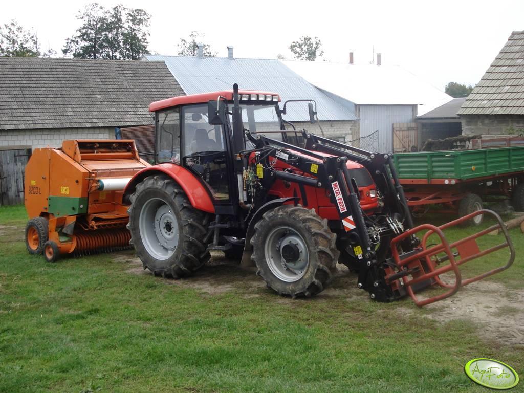 Farmer 8244 c2 z prasą Gallignani