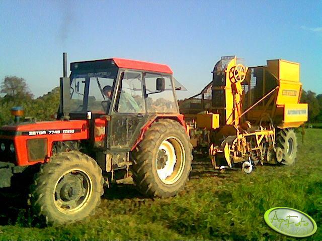 Zetor 7745 Turbo + Kleine 7000