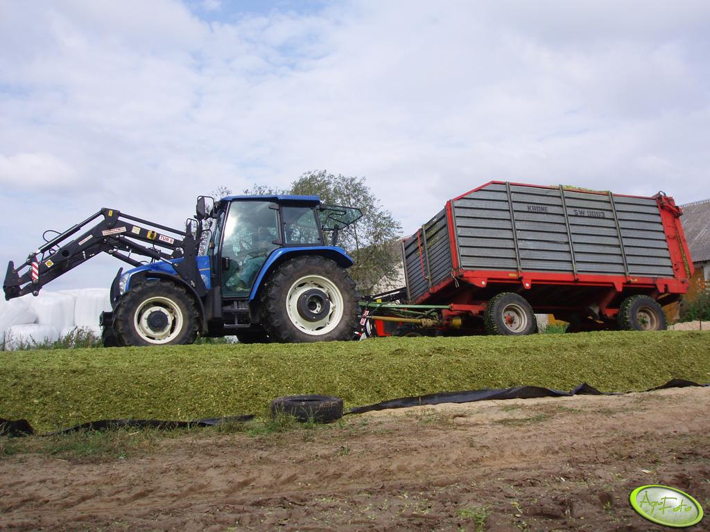 New Holland TL100A + Krone