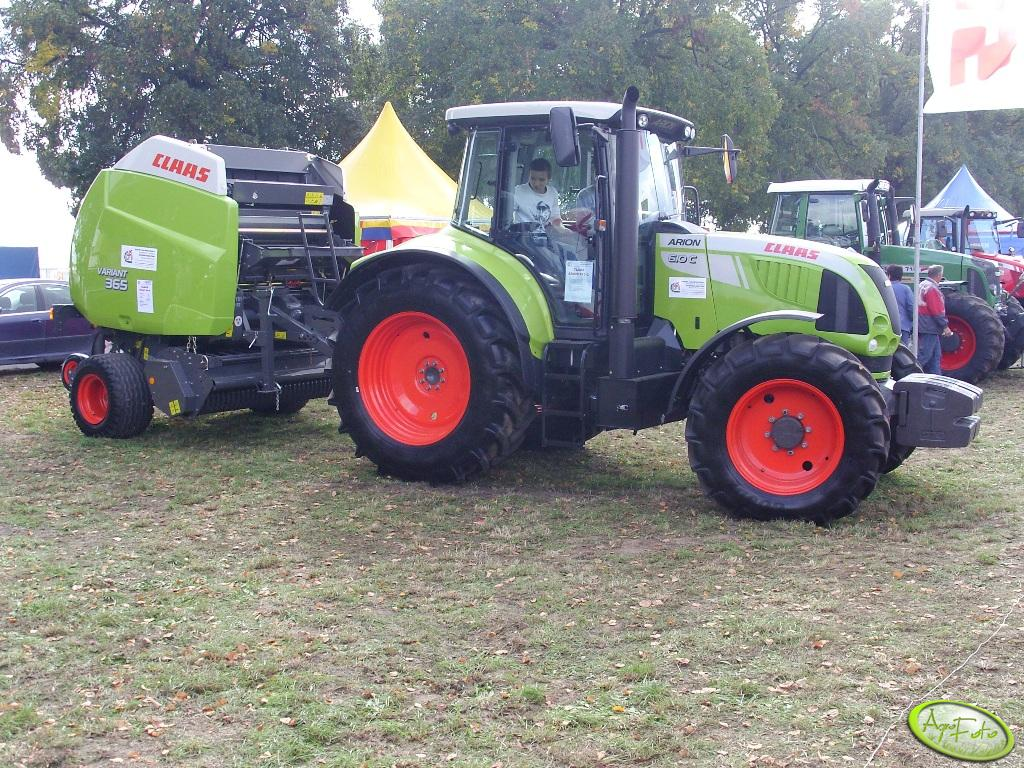 Claas Arion 610C + Variant 365