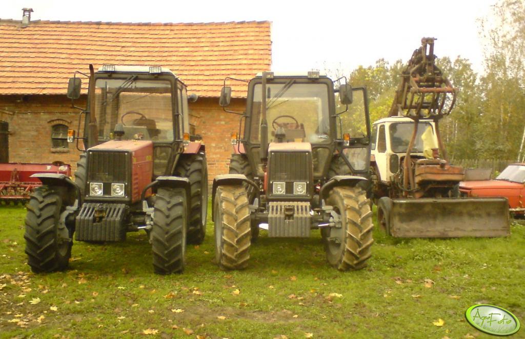 Belarus 820 x 2 & koparka Białoruś