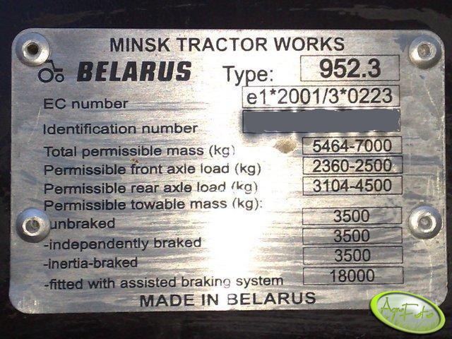 MTZ Belarus 952.3