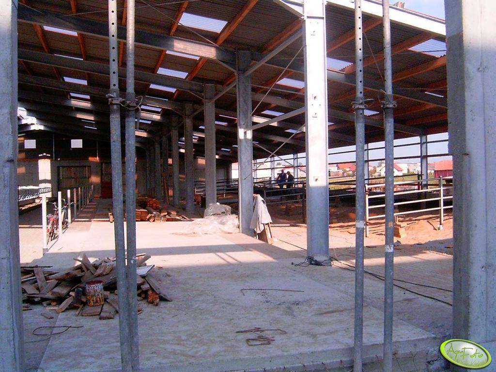 Obora Łęg - budowa