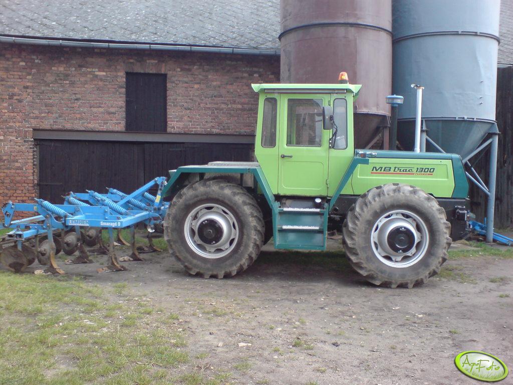 MB Trac 1300 Turbo + Grubber LEMKEN SMARAGD 9