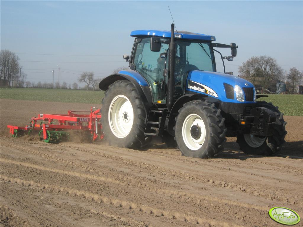 New Holland TS 115A + UNIA KOMBI 4.2 BH