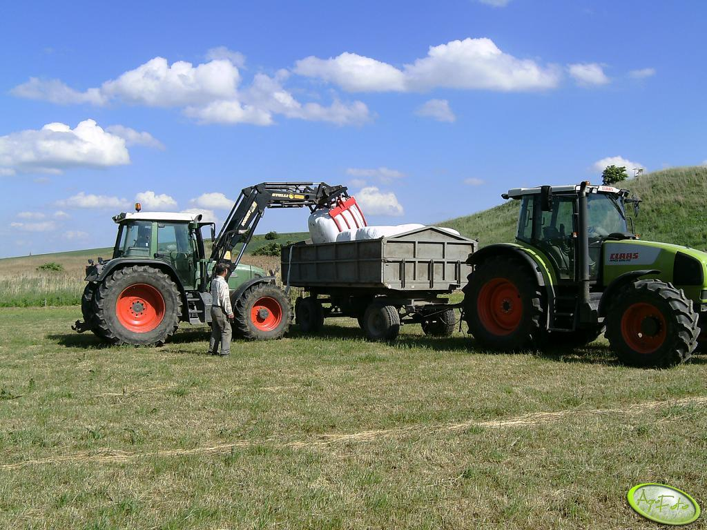 Fendt 714 i Claas Ares