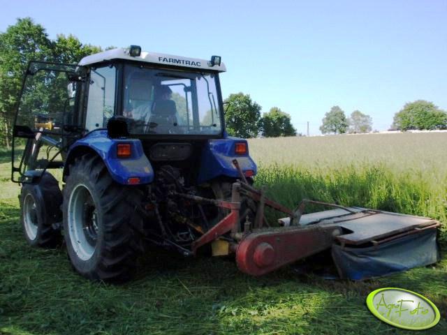 Farmtrac 665DT & kosiarka rotacyjna