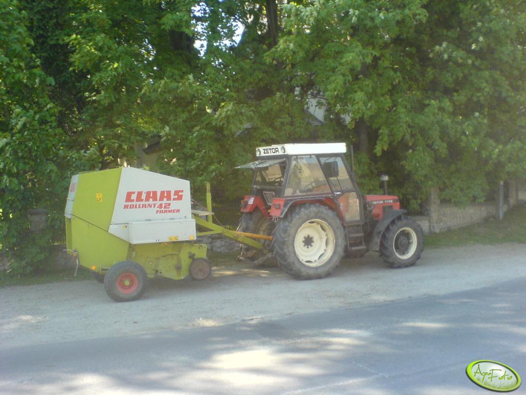 Zetor 7745 + Claas Rollant 42