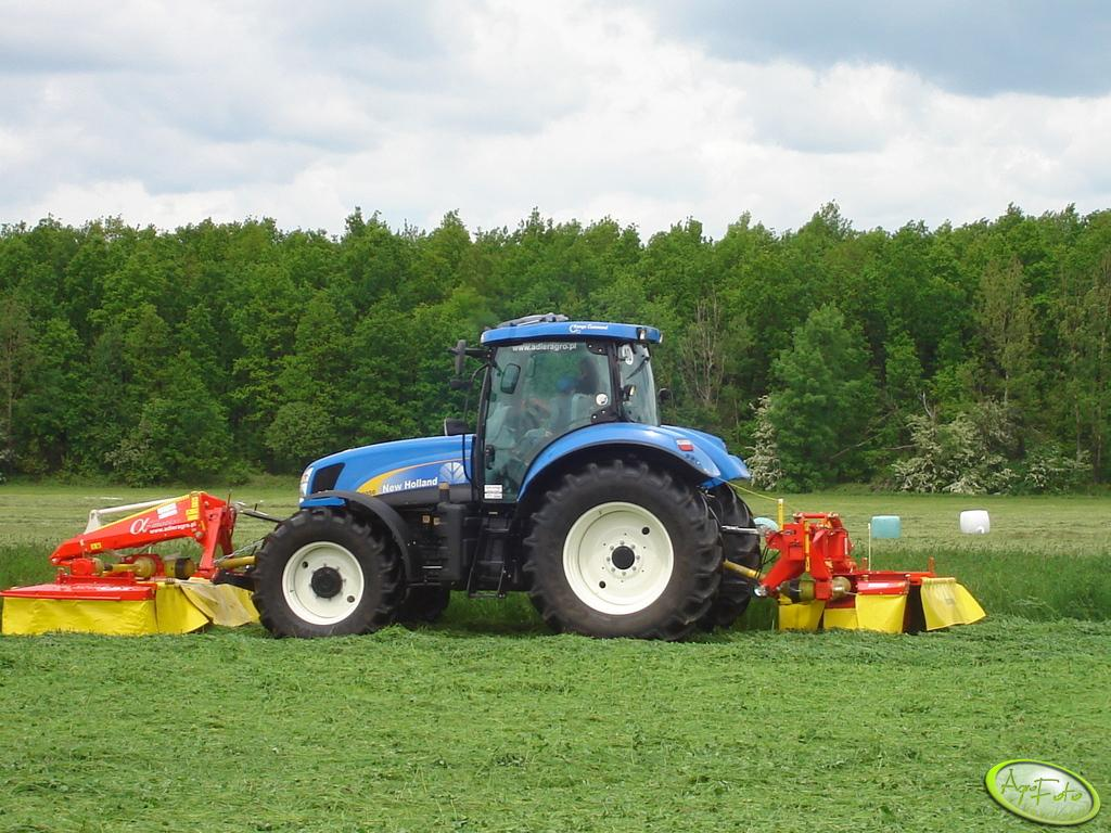New Holland + zestaw kosiarek Pottingera