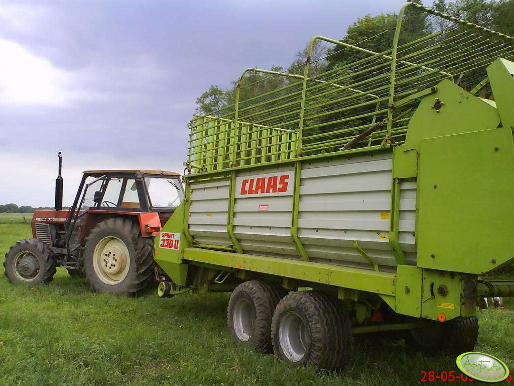 Ursus C-385A + Claas Sprint 330u