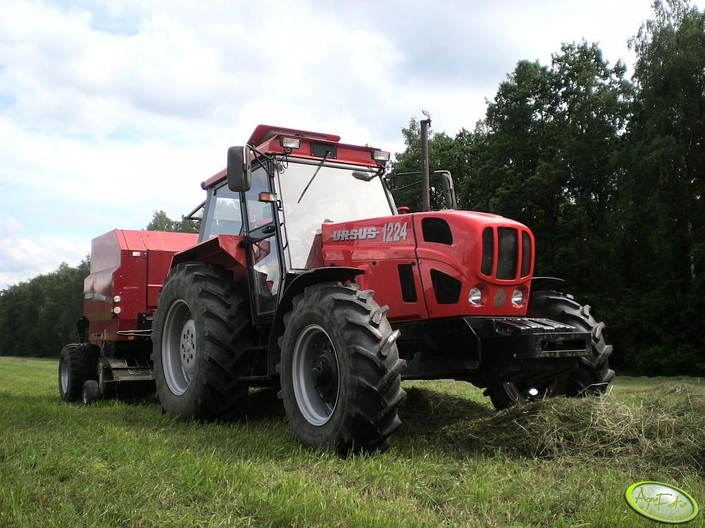 Ursus 1224 + Case IH RB 344R