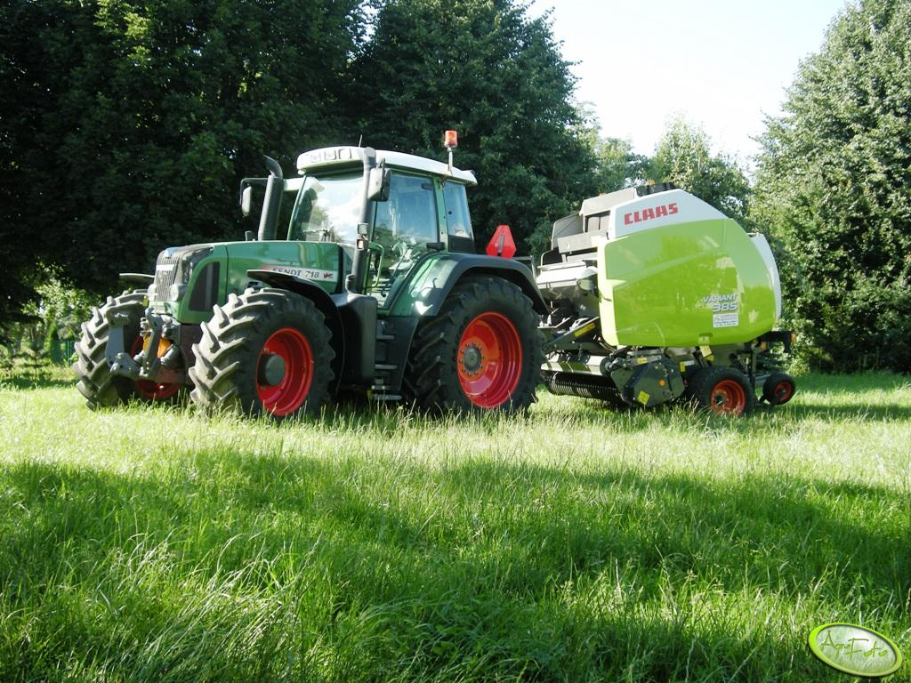 Fendt 718 TMS + Claas Variant 385