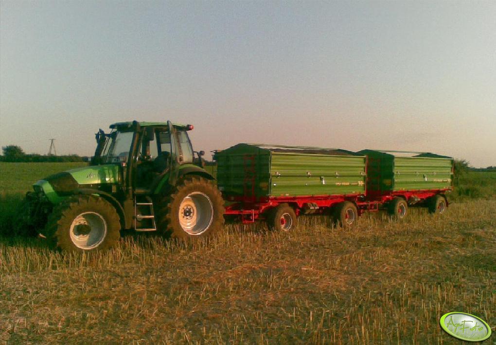 DF Agrotron 150 + 2x Pronar T672/1