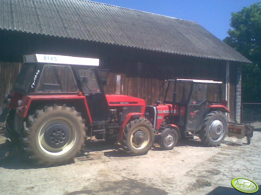Zetor 8145 i MF 255