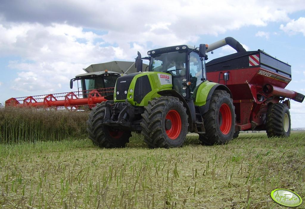 Claas Axion 820 + Horsch