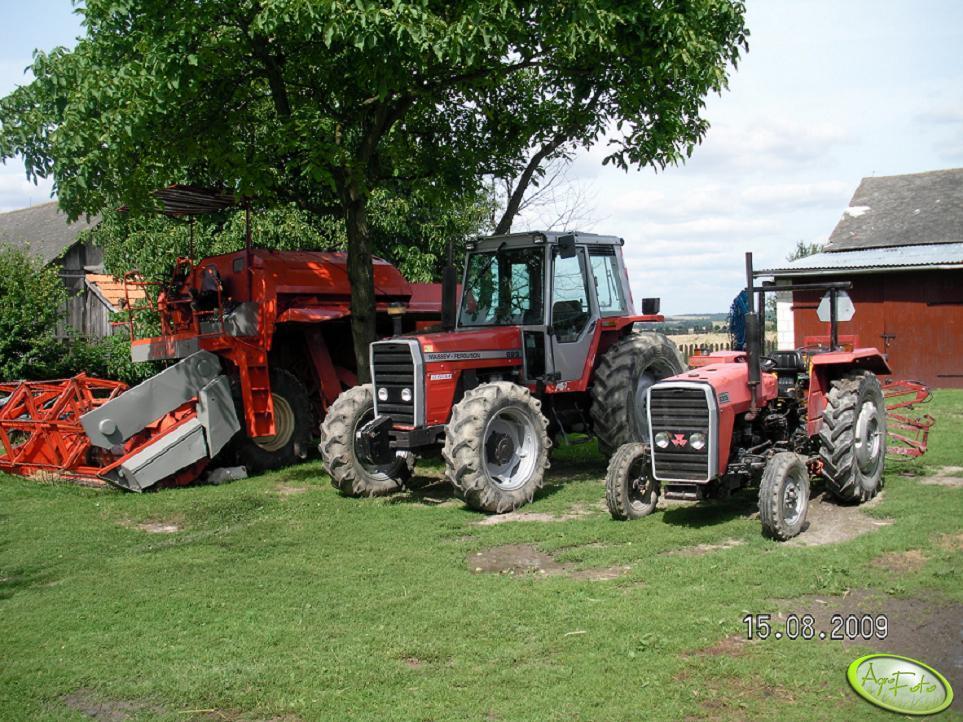 MF 699, MF 135 i Fahr M900