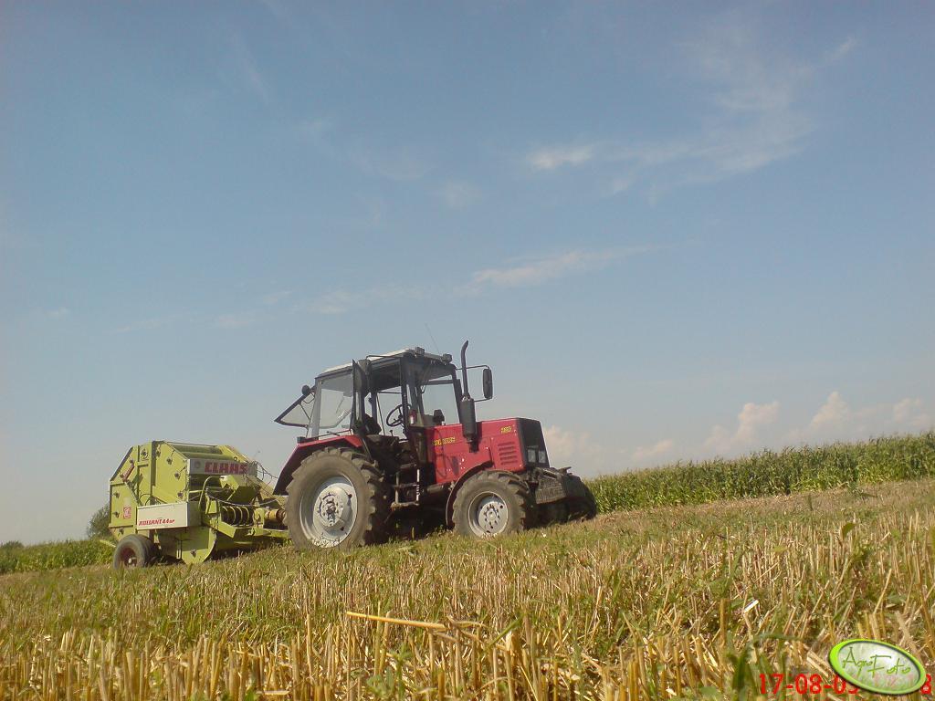 Belarus 820 + Claas Rollant 44sp