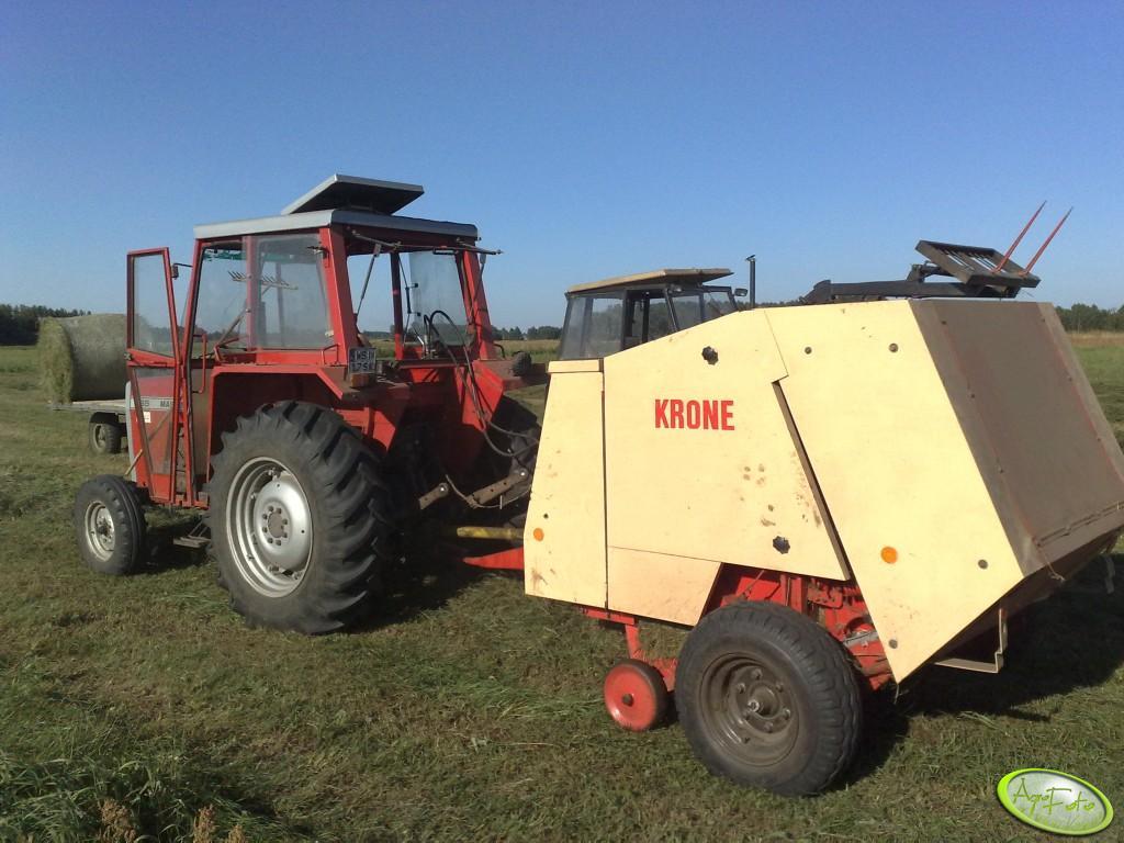 Massey Ferguson 265+ Krone 125