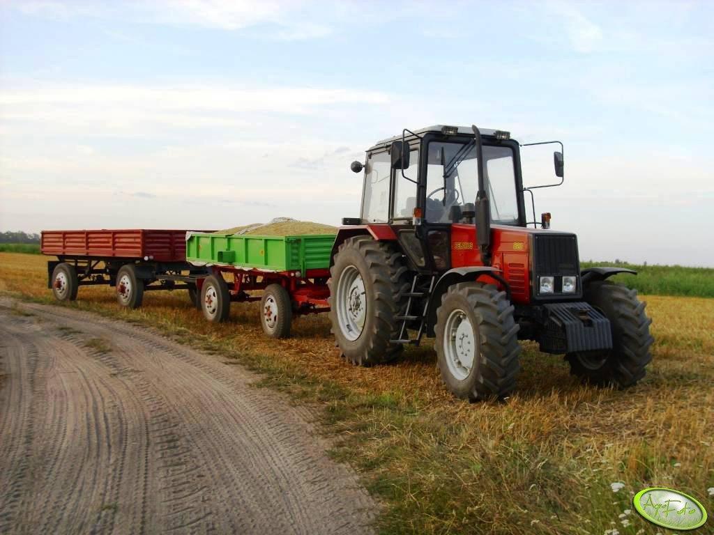 Belarus 820.2 & przyczepy D-35 i D-50