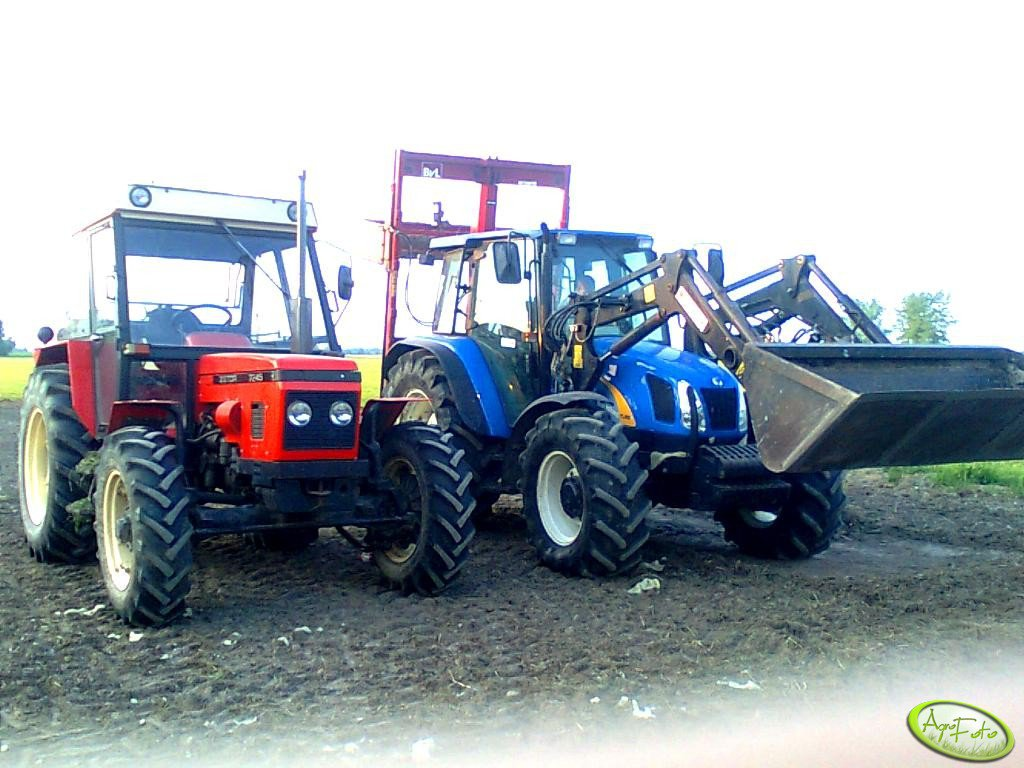 Zetor 7245 i New Holland TL 100A