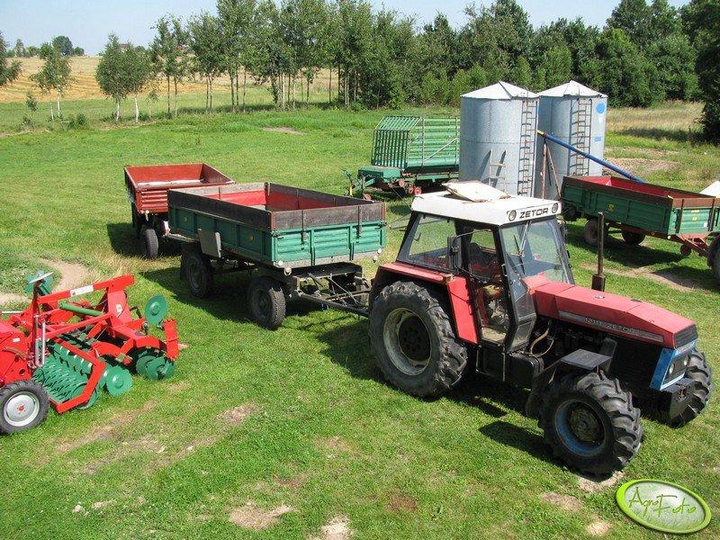 Zetor 12145 + przyczepy 4.5 i 6 ton