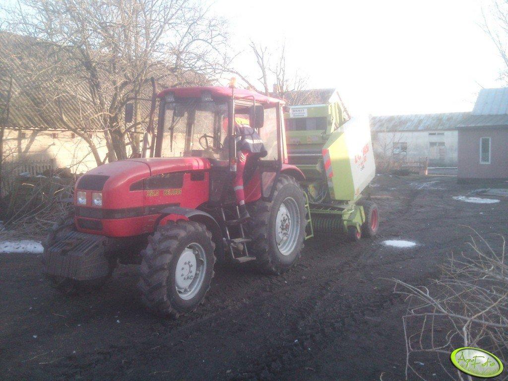 Belarus 952.3 + Claas Variant 180