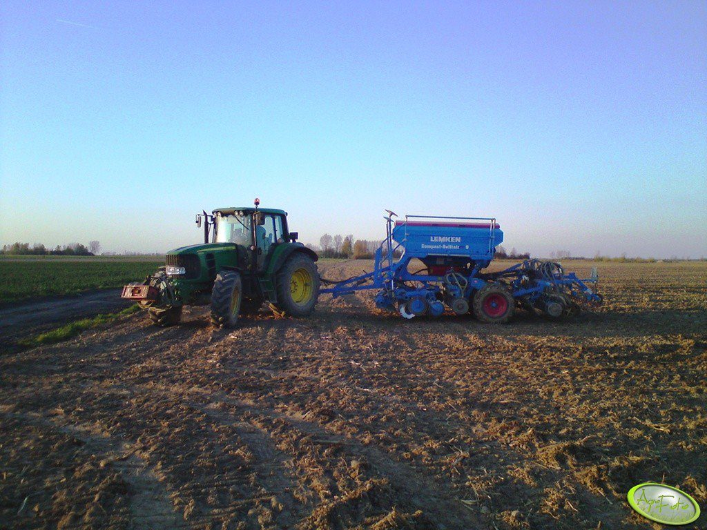 JD 6830 + Lemken Compact Solitair plus 9
