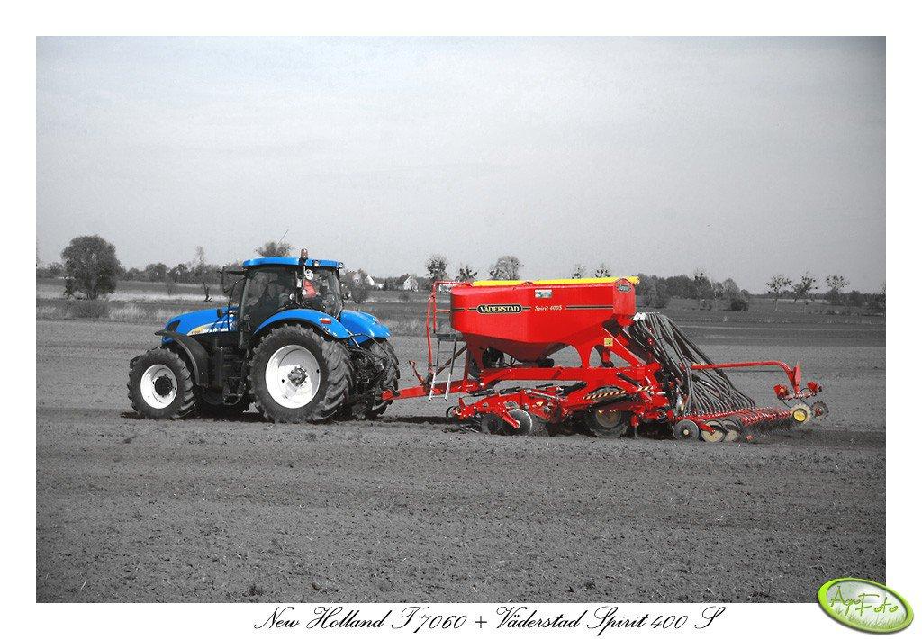 New Holland T7060 + Väderstad Spirit 400 S
