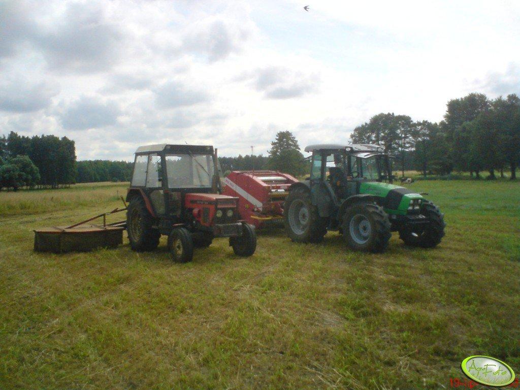 Deutz Fahr Agrofarm Dt100 + Zetor 7211